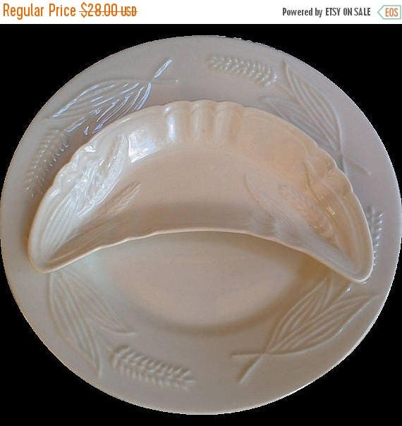 SALE White Ironstone Bone Dish and Plate Set, Serving, Wall Display Plates, Cabinet Plates, Serving Plates, Kitchen