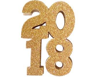 2018 New Year's Eve Party Confetti, 2018 Confetti, 2018 Gold Glitter Confetti, Ring in the New Year with 2018 Confetti, Confetti 2018