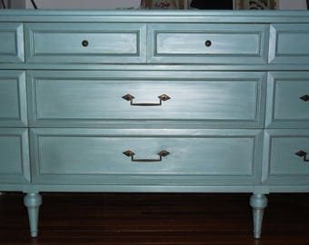 SOLD ****Tiffany Blue Dresser/Bureau/Chest/Changing Table