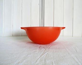 Rare Vintage French Pyrex Sedlex Orange Mixing Bowl