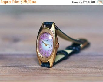 "ON SALE Women's watch ""Luch"", Miniature watch, Soviet watch, Vintage Watch ,gold plated watch, Russian watch, Womens watch ,Mechanical watch"