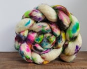 Unicorn Tears- Hand Painted- Superwash Bluefaced Leicester Roving- SW BFL - 4 oz Spinning Fiber - Roving- combed top