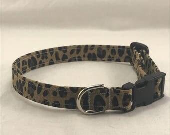 Dog/Cat Collar- Leopard Print