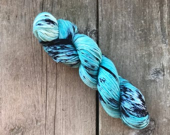 Hand-dyed Yarn - Cool Spirit Colorway - Hand-painted Yarn - Merino Wool Yarn - Indie-dyed Yarn