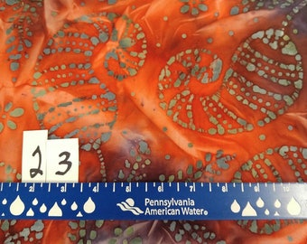 Batik Fabric Group E 100% Cotton Quilter's Weight--Simply Beautiful BTY