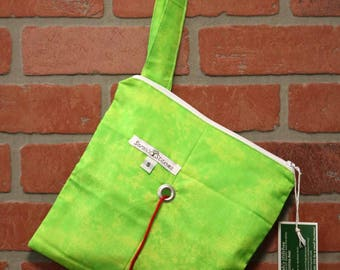 Knitting Bag, Crochet, Knit, Yarn, Wool, Green, Yarn Storage, Yarn Bag with Hole, Grommet, Handle, SYB111