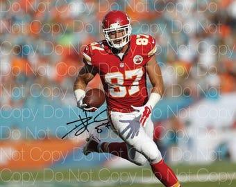 Travis Kelce Kansas City Cheifs signed 8X10 photo picture poster autograph RP