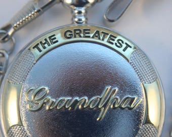 The Greatest Grandpa Pocket Watch • Free Shipping! Excellent Father's Day Gift •  Perfect for Grandfather • Working and Ready for Use