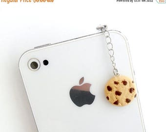 ON SALE Chocolate Chip Cookie Dust Plug, For iPhone or iPod, Cute :D