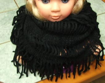 Black for women or teens acrylic closed scarf or snood