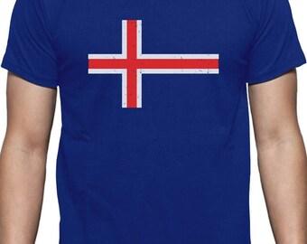Iceland Flag Vintage Style Retro Icelandic T-Shirt