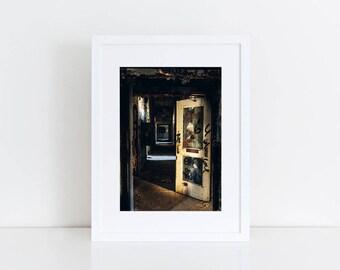 Psych Ward Entrance - Urban Exploration - Fine Art Photography Print