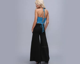 Bell bottoms  Yoga pants for women  - Wide leg cotton pants - maternety