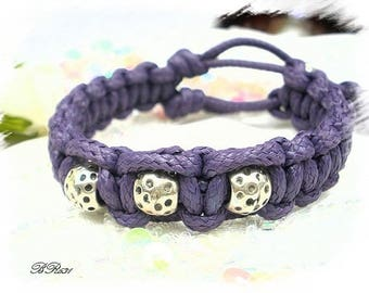 Purple cotton shamballa bracelet * BR631