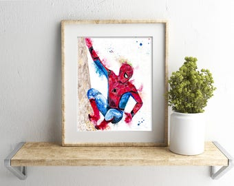 Spiderman art: Spiderman artwork, Marvel superhero, Spiderman lover gift, amazing Spiderman, boys room art, comic lover gift, comic wall art