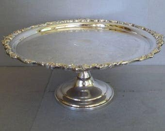 good vintage silver cake stand silver plate cake stand wedding cake stand wedding decor with cake stand singapore : silver plate cake stand - pezcame.com