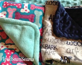 Puppy transition blanket/puppy crate blanket/puppy love/puppy