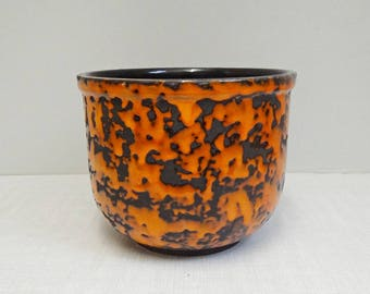 Big fat lava Flowerpot P ceramic 70s