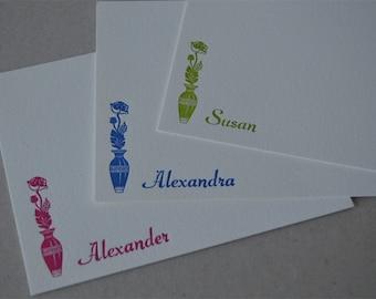 Flowerpot Custom Letterpress Stationery
