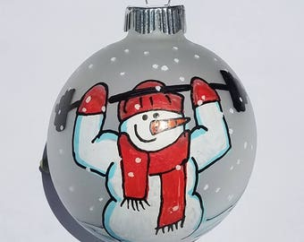 Cross Fit Ornament, Exercise Ornament, Personal Trainer Ornament, Personalized Ornament, Fitness Ornament, Snowman Ornament