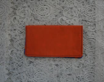 Fabric Checkbook Cover, Star Theme Fabric,  Cash Wallet,