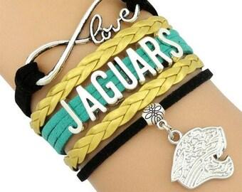 Jaguars Infinity Bracelet,  Jacksonville Jaguars Infinity Bracelet,  Jacksonville Infinity Bracelet