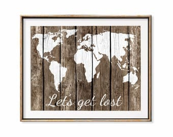 World map decor Etsy