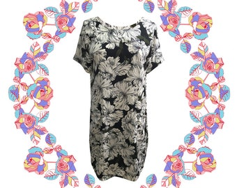 Adult Floral Pocket Dress