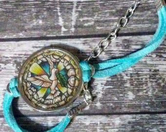 Holy Spirit Leather Bracelet