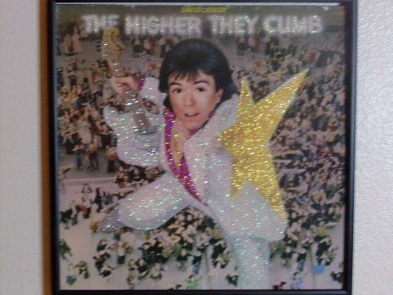 Glittered Record Album - The Higher They Climb - David Cassidy