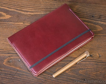 Leuchtturm 1917 Medium (A5) Hardcover Notebook cover - burgundy bridle leather