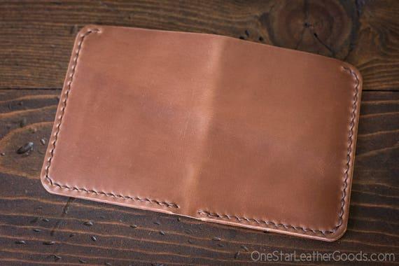 6 Pocket Horizontal wallet, hand stitched, Horween shell cordovan - natural