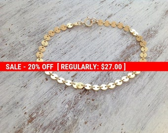 SALE 20% OFF Gold bracelet, delicate bracelet, dainty gold bracelet, simple bracelet, everyday jewelry, holiday gift -21012