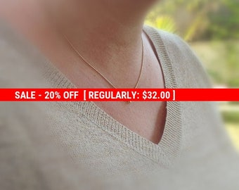 SALE 20% OFF Tiny gold necklace, star necklace, small gold necklace, gold necklace, petite jewelry, delicate necklace -577