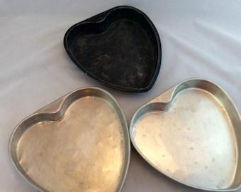 Vintage Heart Cake Pans/Heart Shaped Cake Pans