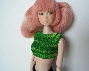 Crochet Crop Top for Momoko dolls