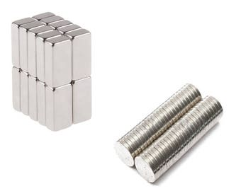 10 neodymium magnets (strong), rectangular, ideal for polymer clay, cold porcelain
