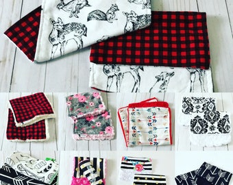 SALE • You Pick Mix n' Match • Baby Burp Cloths • Baby • Baby Boys • Baby Girls • Baby Gift • Baby Shower Gift• BizyBelle