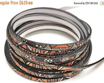 ON SALE 5MM Flat Leather Cord Kenya - High Quality Leather Cord - Made in Eu - Qty. 1M/39.4""