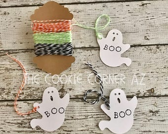 "BOO tag 2x2"" 12 count"