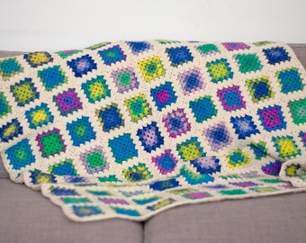Crocheted Baby Blanket - Granny Square