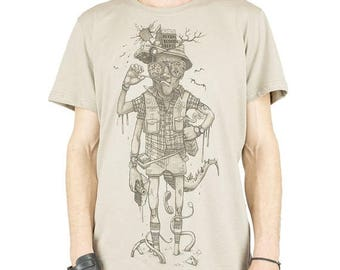 "ON SALE shirt man film ""Fear and Loathing in Las Vegas"" Raoul Duke, trance festival, alternative fashion, original design"
