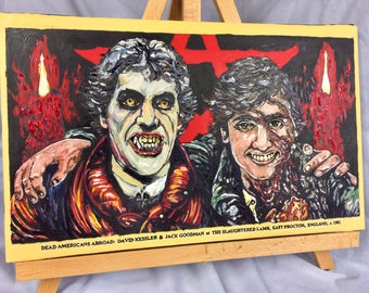 "An American Werewolf In London    Hand Painted    11"" x 16""   Acrylic on Canvas"