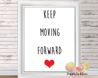 Foward | EtsyKeep Moving Forward Quote Meet The Robinsons