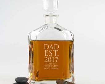 Engraved Deluxe Father's Day Whiskey Decanter