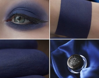 Eyeshadow: The Lady with the Blue Veil - Dark Castle. Deep blue matte eyeshadow by SIGIL inspired.