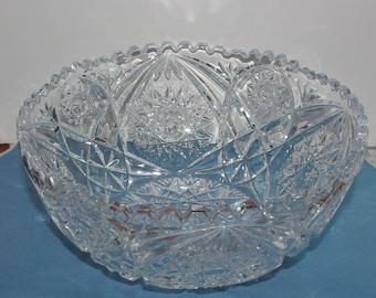 BRILLIANT CUT GLASS Bowl - Large