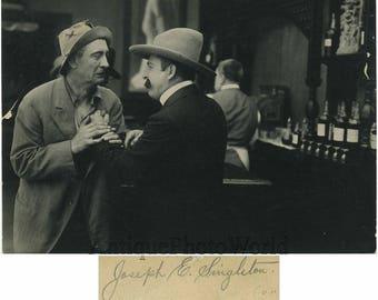 Joseph E. Singleton silent movie star antique photo