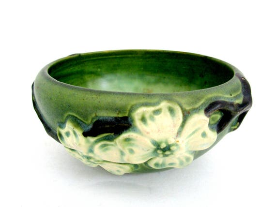 Roseville Pottery, Roseville Dogwood Bowl, Ohio Pottery, American Art Pottery, Zanesville Ohio