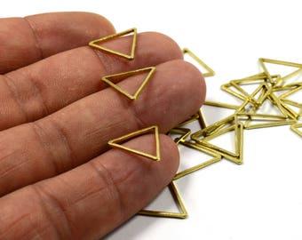 250 Pcs. Raw Brass 15x15 mm Geometric Triangle Circle Findings
